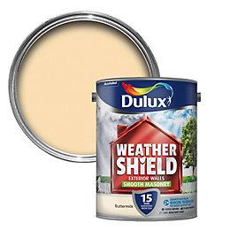 Dulux Weathershield Buttermilk Cream Smooth Masonry Paint 5L