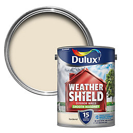 Dulux Weathershield Gardenia Cream Smooth Matt Masonry Paint