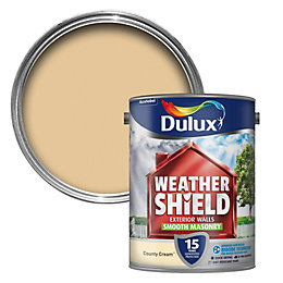 Dulux Weathershield County Cream Matt Masonry Paint 5L
