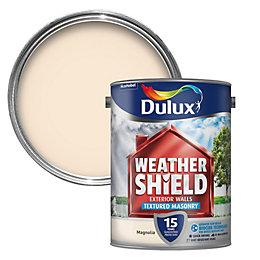Dulux Weathershield Magnolia Textured Masonry Paint 5L