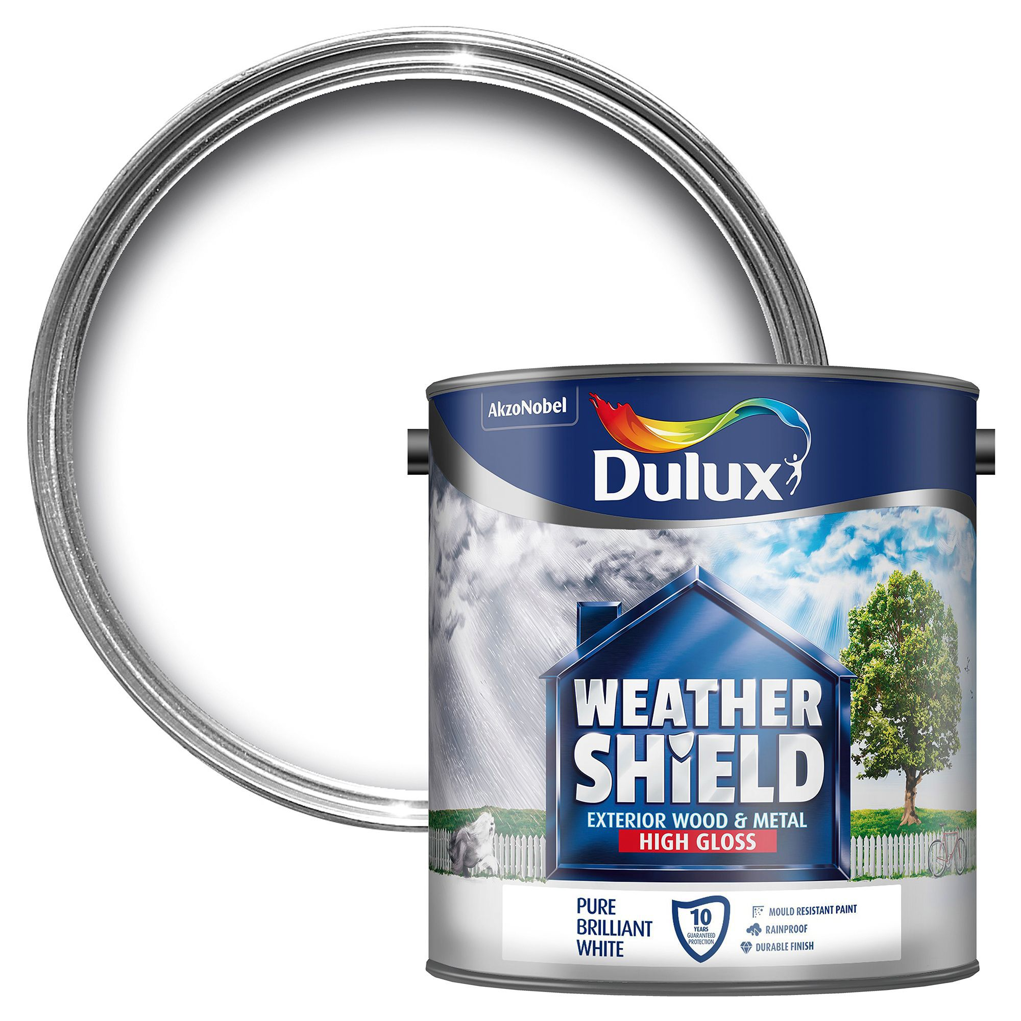Dulux Weathershield Exterior Pure Brilliant White Gloss