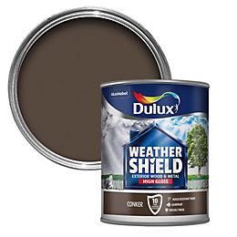 Dulux Weathershield Exterior Conker Gloss Wood & Metal