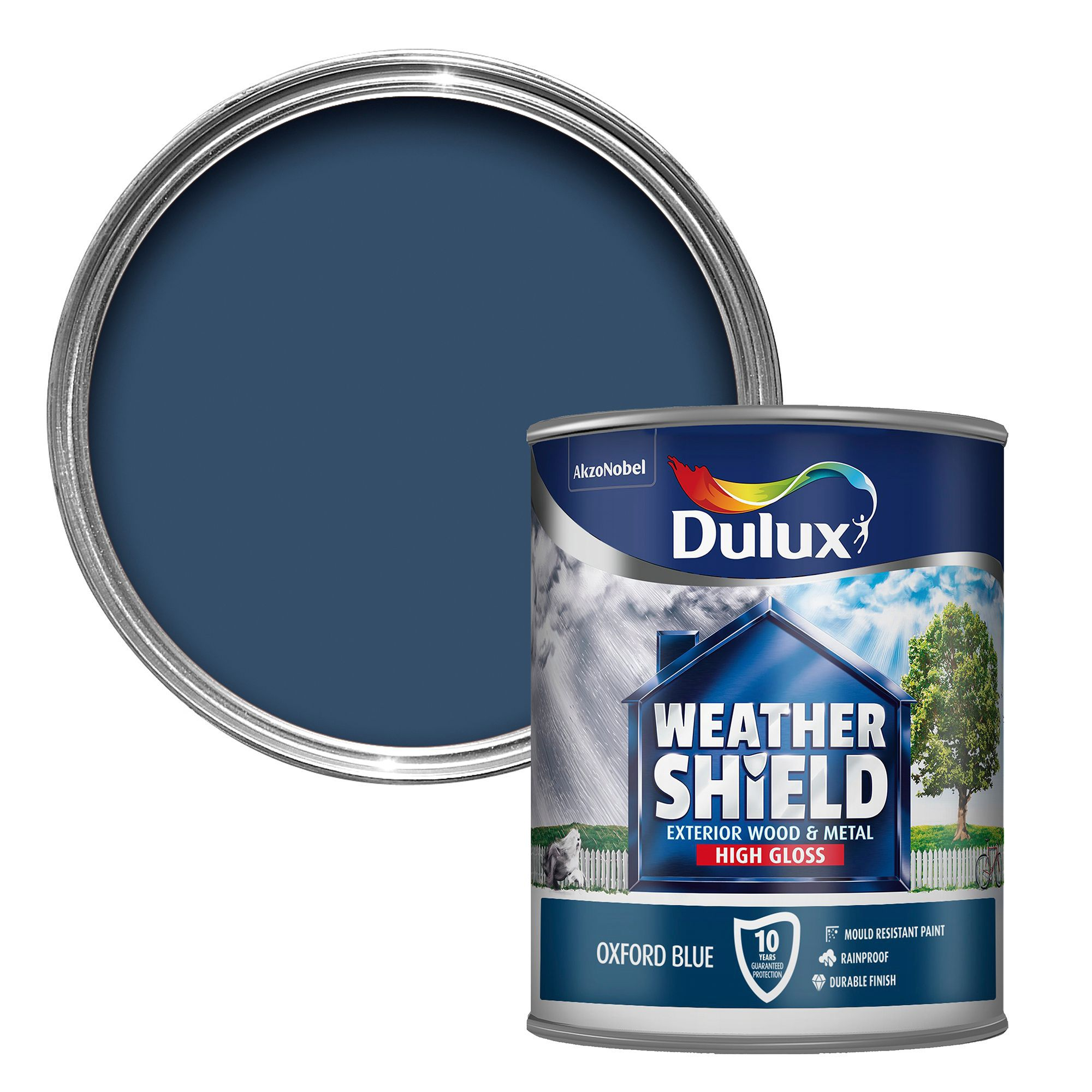 Dulux weathershield exterior oxford blue gloss wood metal paint 750ml departments diy at b q - Exterior wood paint matt pict ...