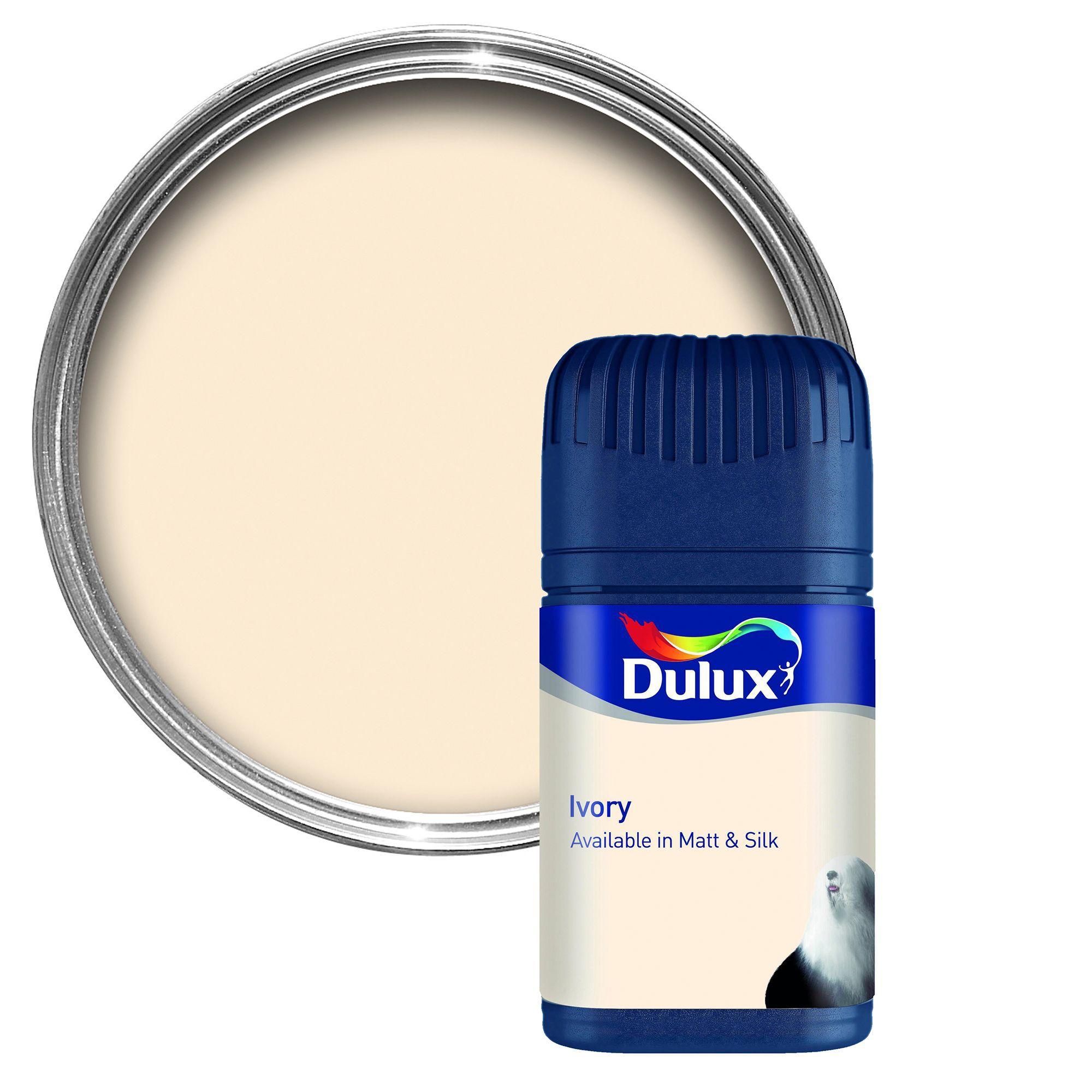 Dulux Ivory Matt Emulsion Paint 50ml Tester Pot