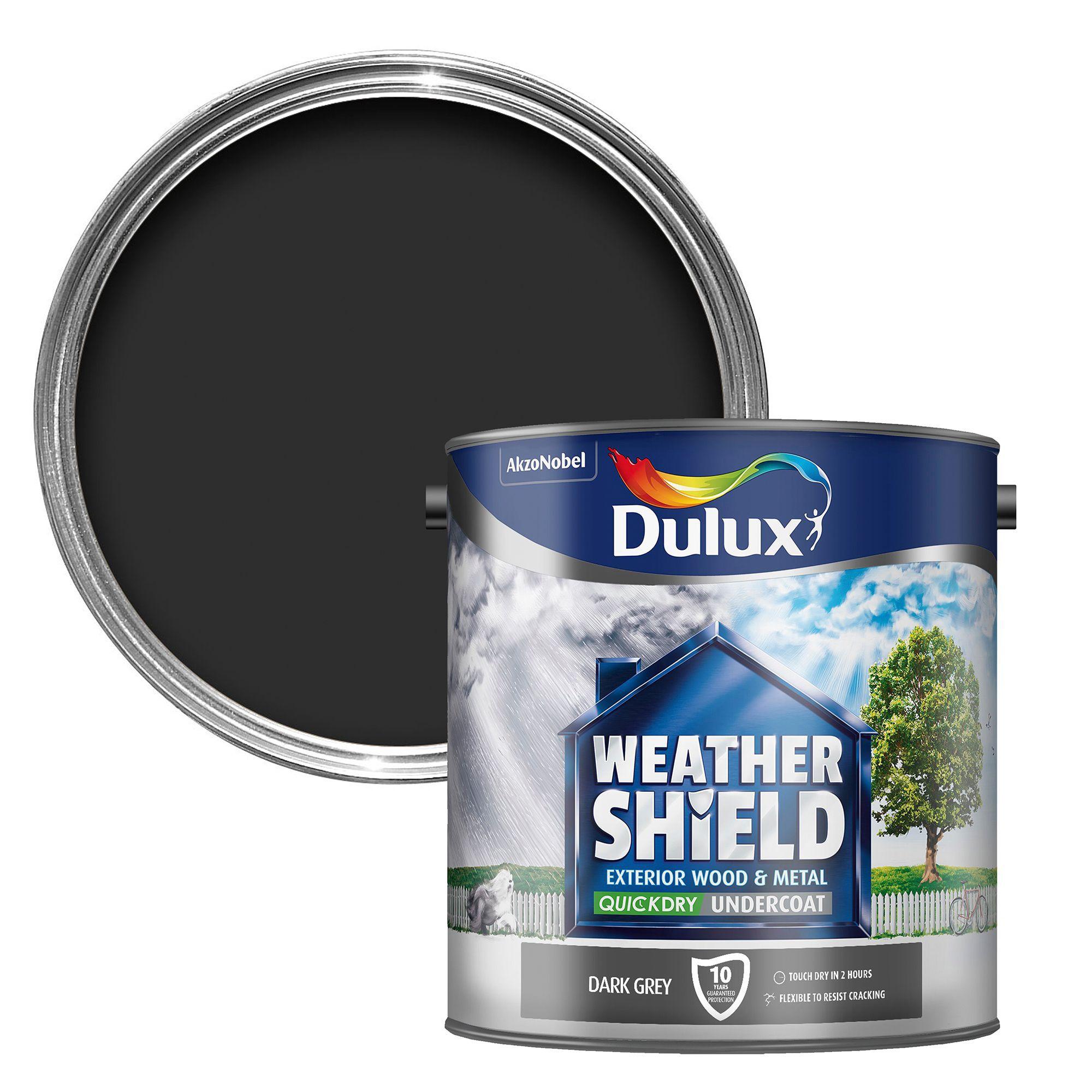 Dulux Weathershield Grey Metal Wood Undercoat 2 5l Departments Diy At B Q
