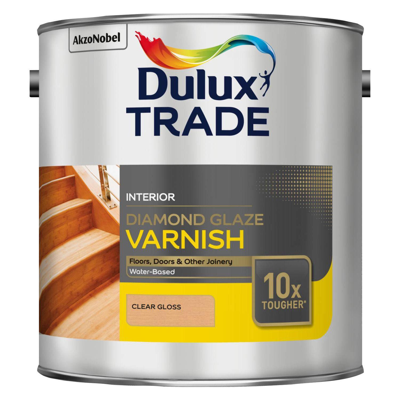 Dulux Trade Clear Gloss Wood Varnish 2500ml Tin