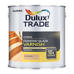 Dulux Trade Clear Satin Wood Varnish 2.5L Tin