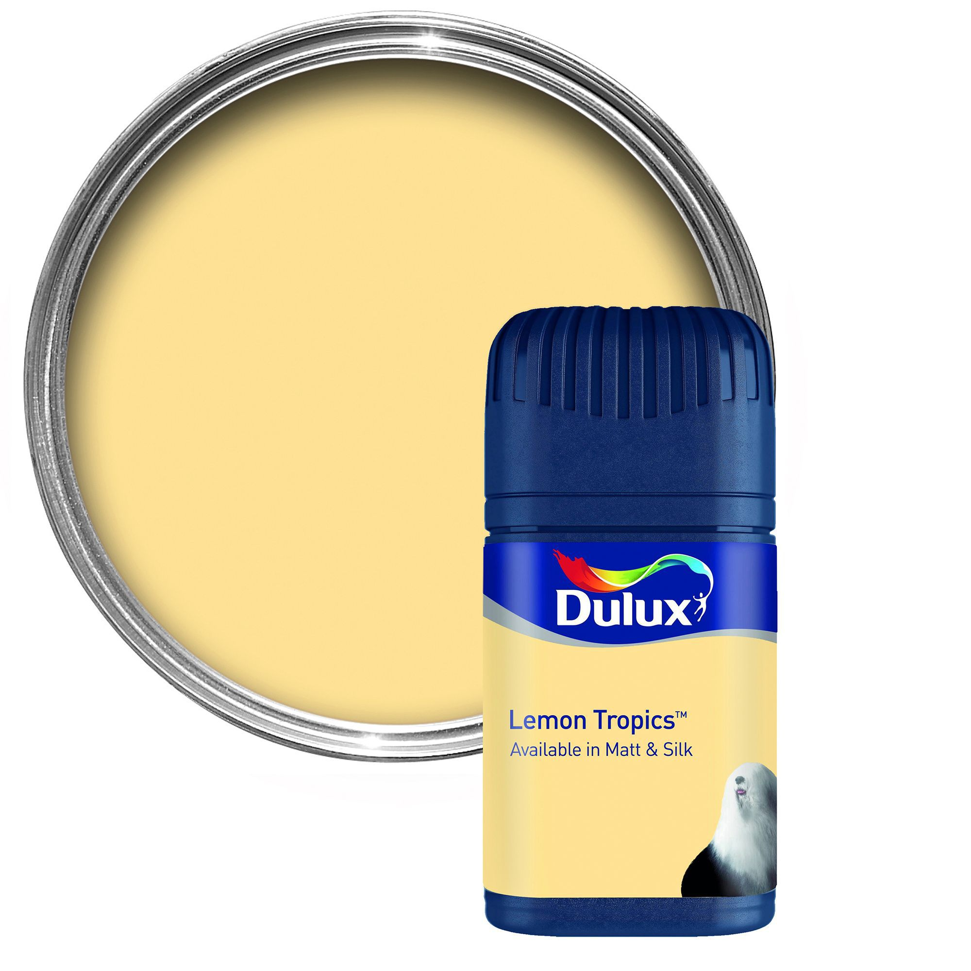 Dulux Lemon Tropics Matt Emulsion Paint 50ml Tester Pot