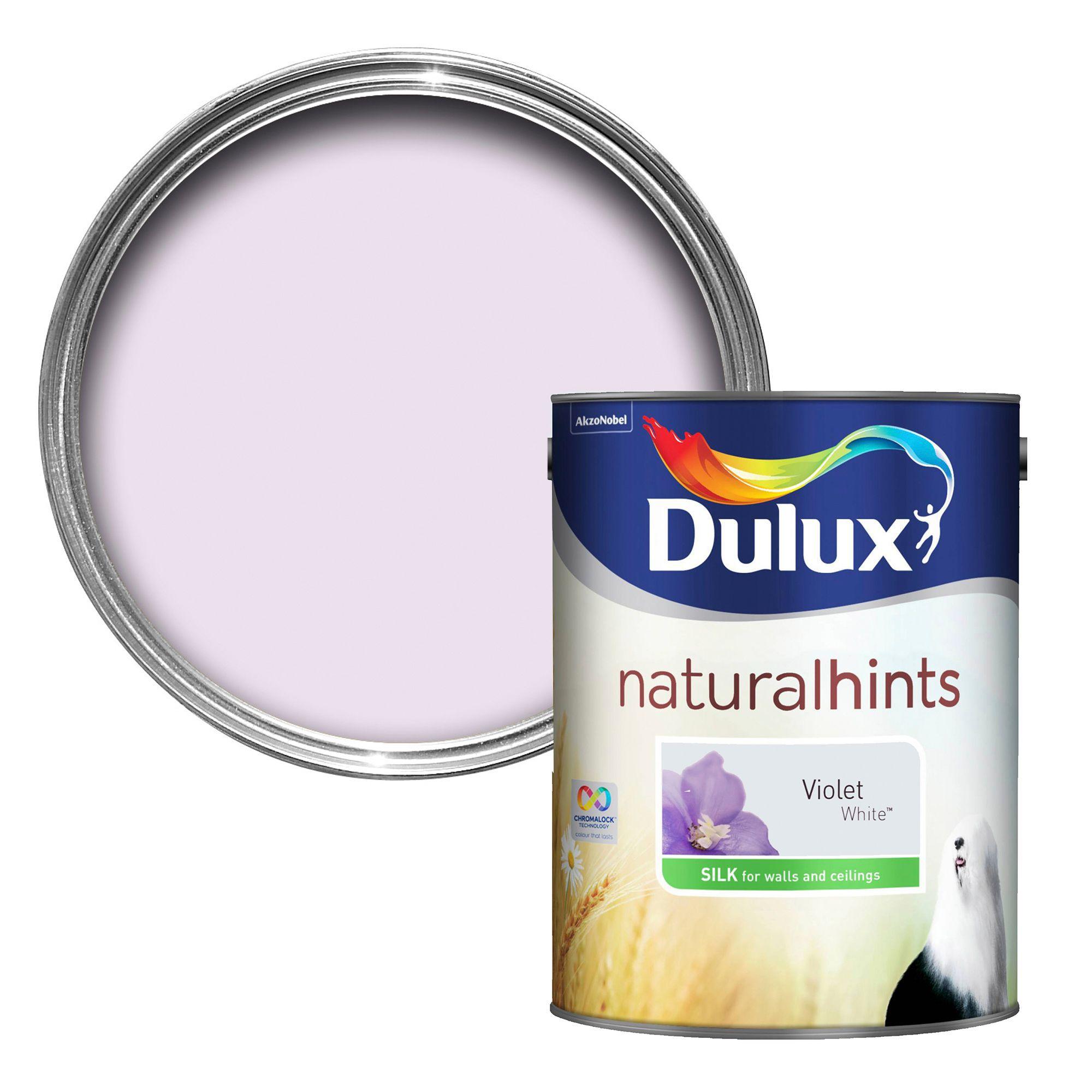Dulux Violet White Silk Emulsion Paint 5l