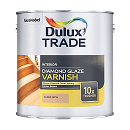 Dulux Trade Diamond Internal Clear Satin Varnish 1L