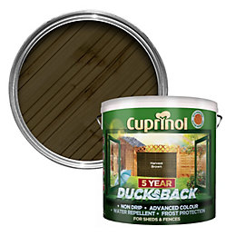 Cuprinol 5 Year Ducksback Harvest Brown Shed &