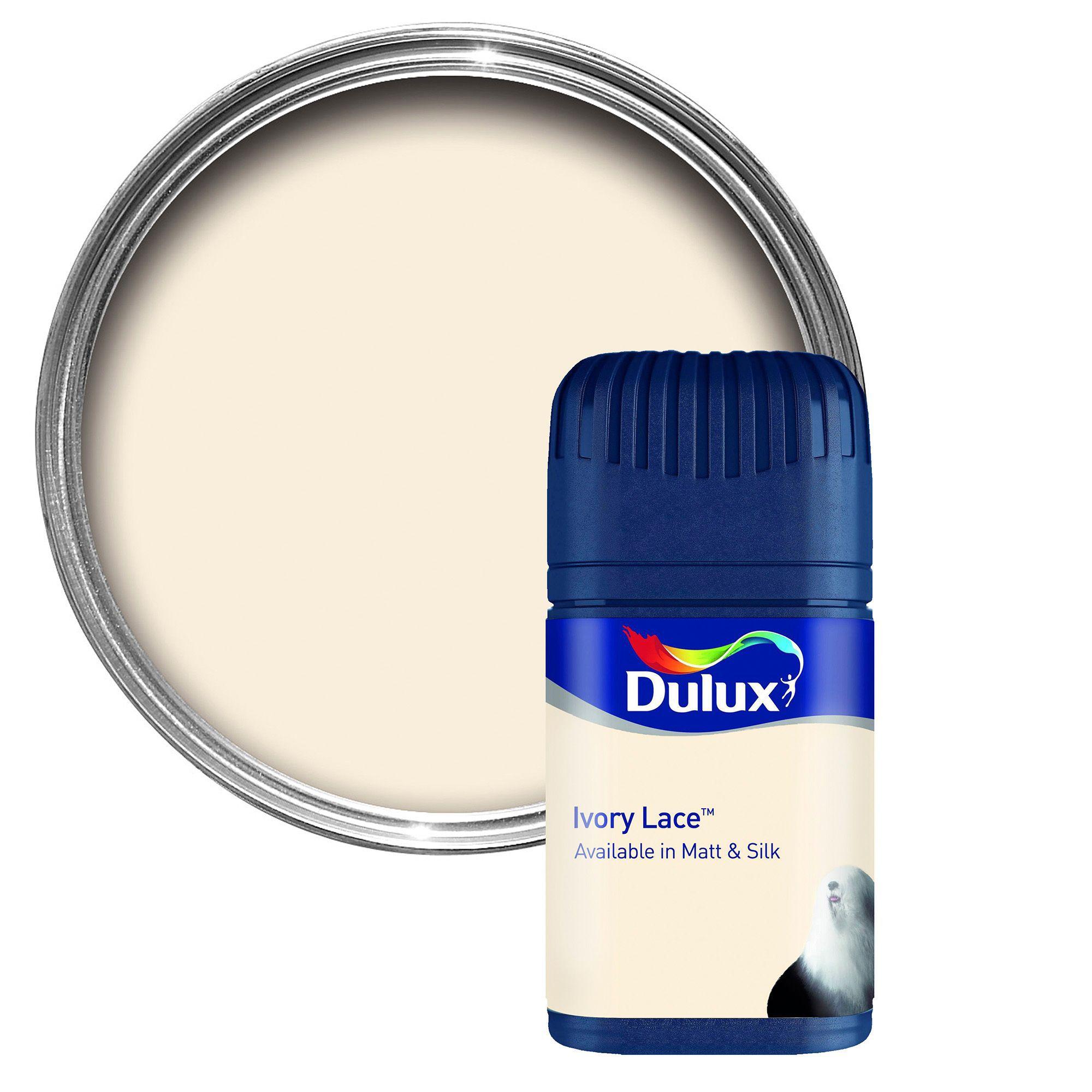 Dulux Ivory Lace Matt Emulsion Paint 50ml Tester Pot
