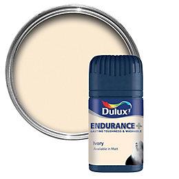 Dulux Endurance Ivory Matt Emulsion Paint 50ml Tester
