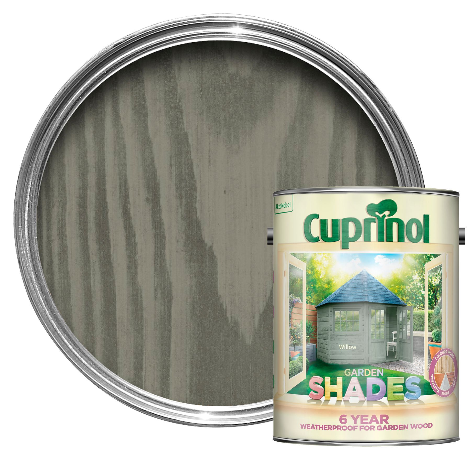 Cuprinol garden shades willow matt wood paint 5l departments diy at b q - Exterior wood paint matt pict ...