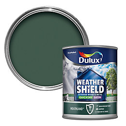 Dulux Weathershield External Heathland Green Satin Paint 750ml