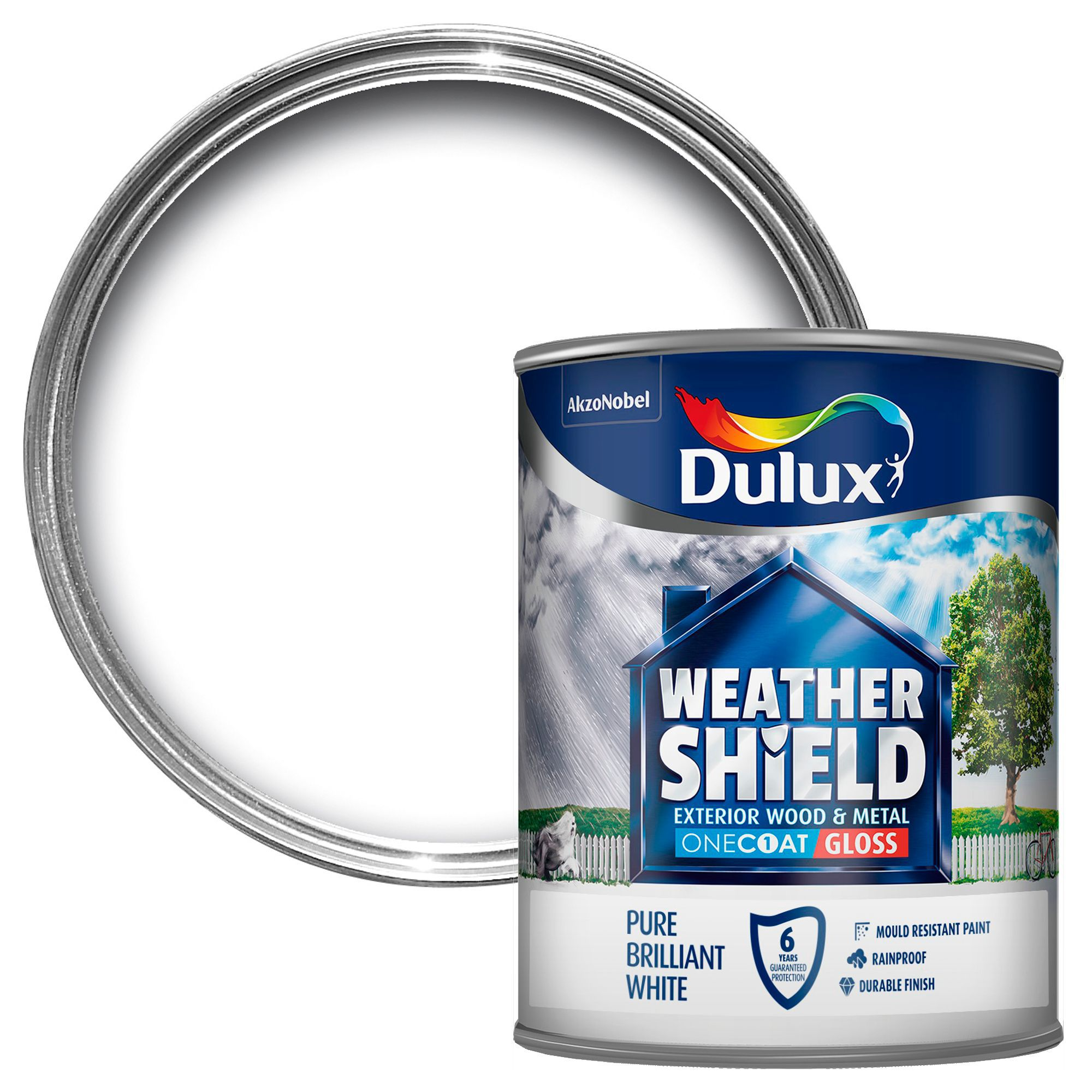 Dulux Trade Exterior Pure Brilliant White Gloss Wood & Metal Paint 750ml