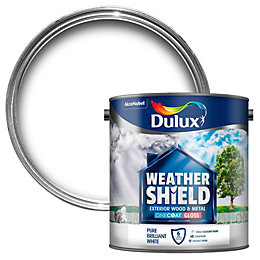 Dulux Weathershield Exterior Pure Brilliant White Gloss Wood
