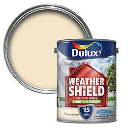 Dulux Weathershield Classic Cream Matt Masonry Paint 5L