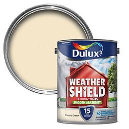 Dulux Weathershield Classic Cream Matt Masonry Paint 5L