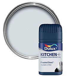 Dulux Kitchen Frosted Steel Matt Emulsion Paint 50ml