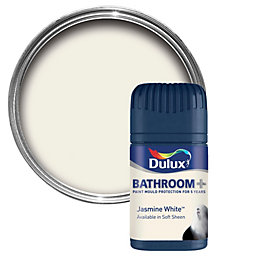 Dulux Bathroom Jasmine White Soft Sheen Emulsion Paint
