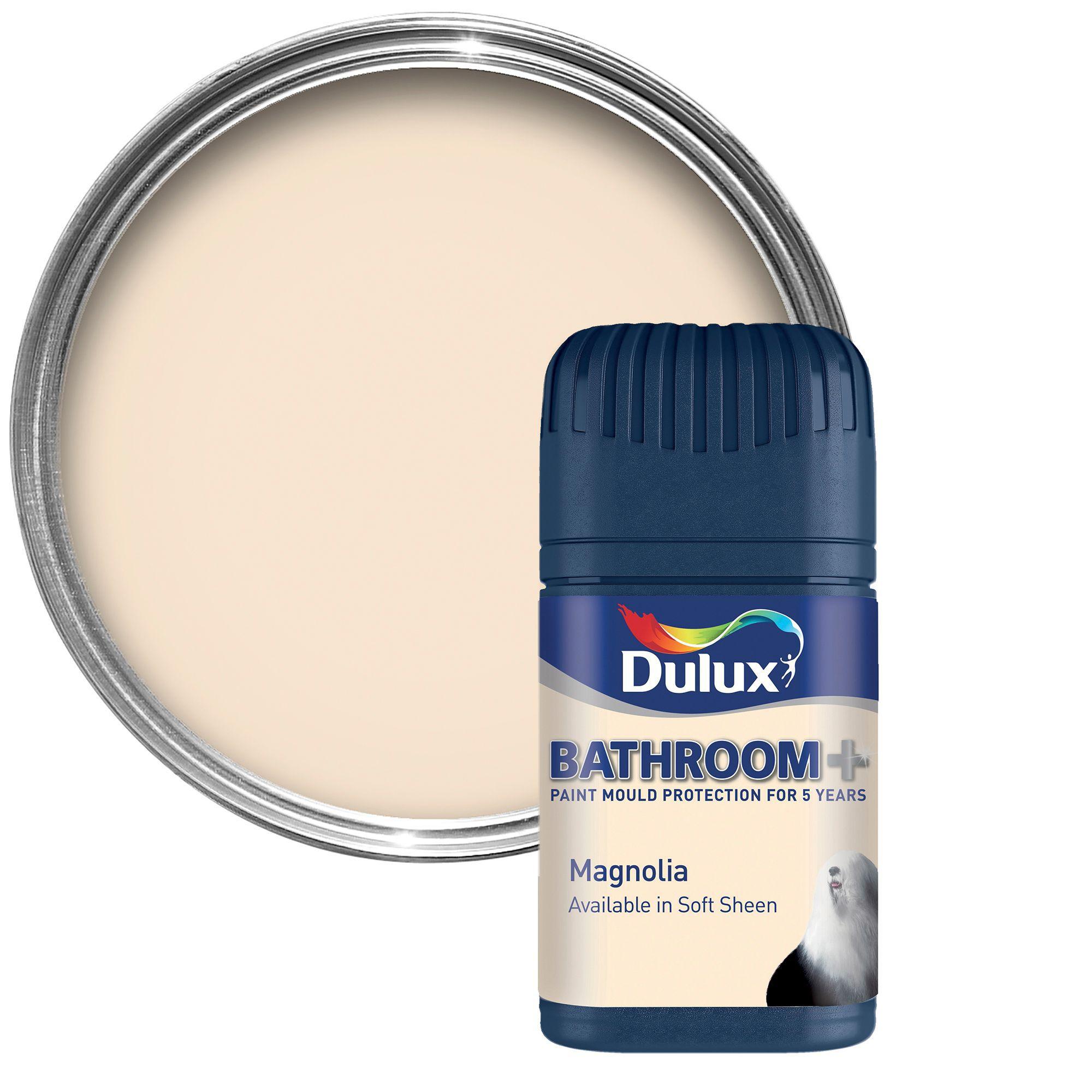 Dulux Bathroom Paints: Dulux Bathroom+ Magnolia Soft Sheen Emulsion Paint 0.05L