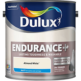 Dulux Endurance Almond White Matt Emulsion Paint 2.5L