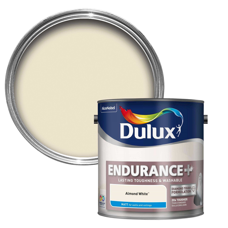 Dulux Endurance Almond White Matt Emulsion Paint 2.5L
