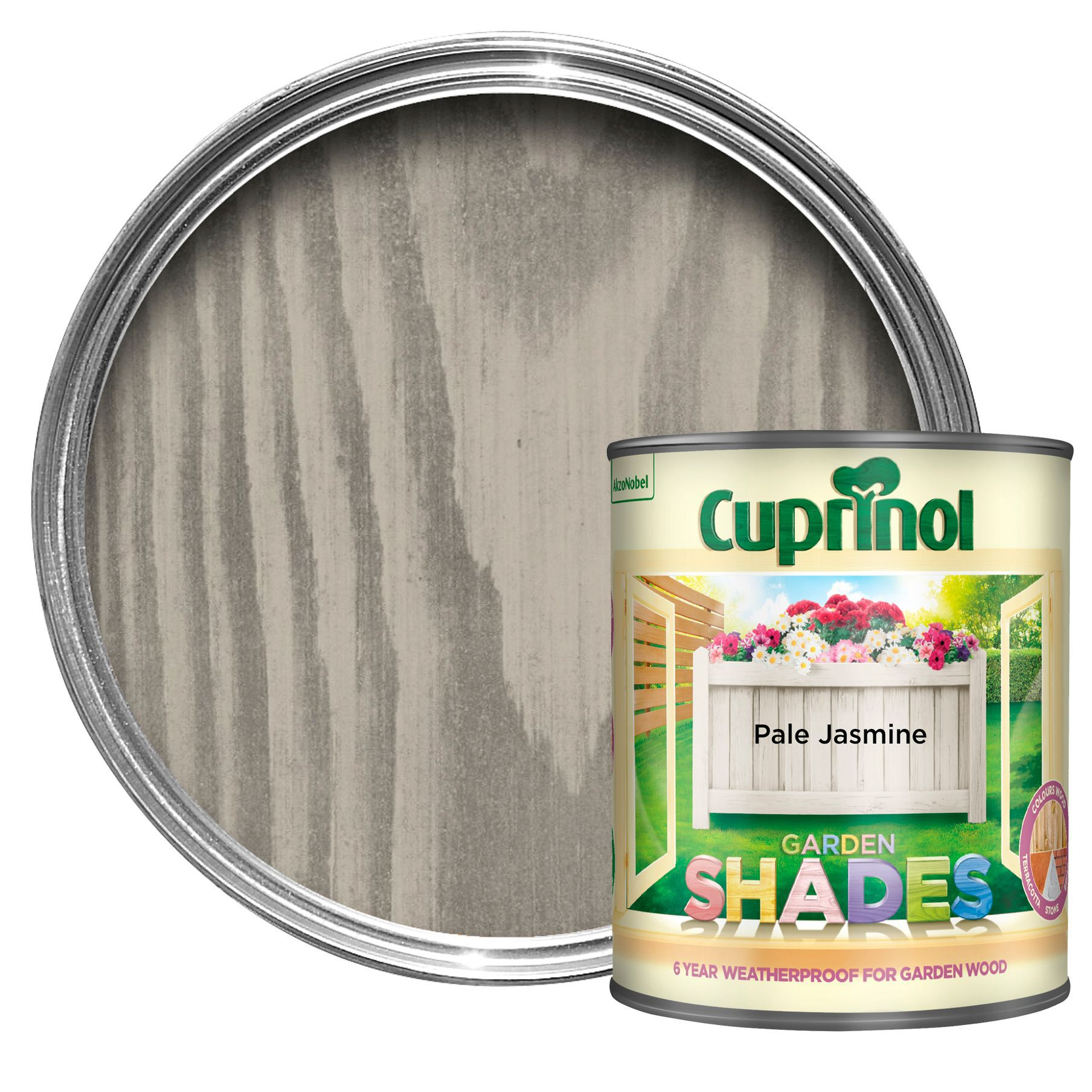 Cuprinol Garden Shades Pale Jasmine Matt Wood Paint 1l