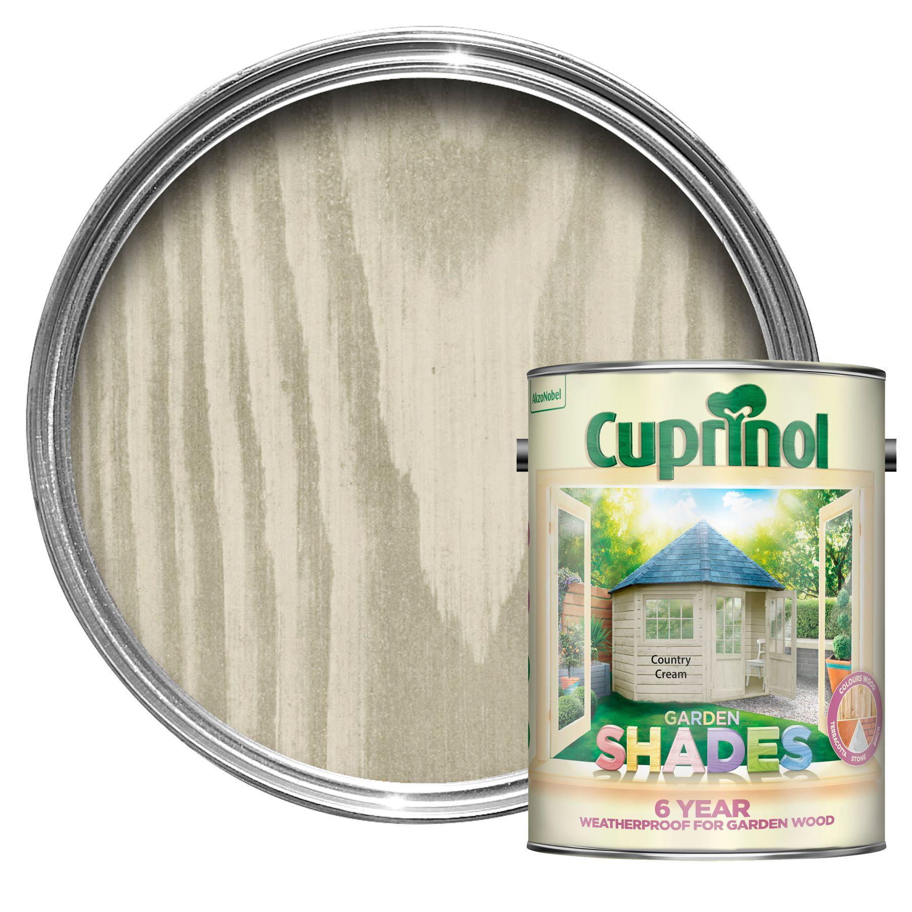 Cuprinol Garden Shades Country Cream Matt Wood Paint 5l Departments Diy At B Q