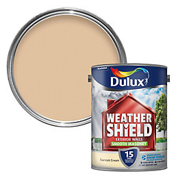 Dulux Weathershield Cornish Cream Smooth Masonry Paint 5L