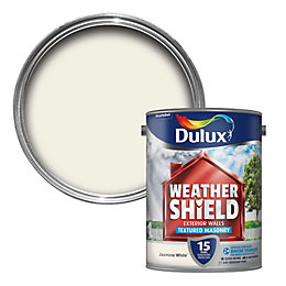 Dulux Weathershield Jasmine White Textured Masonry Paint 5L