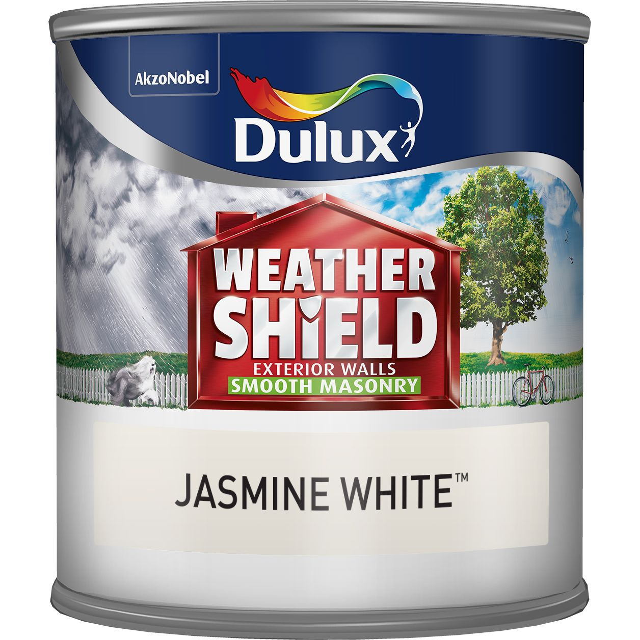 Dulux Weathershield Jasmine White Smooth Matt Masonry Paint 0.25l Tester Pot