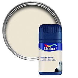 Dulux White Chiffon Matt Emulsion Paint 50ml Tester