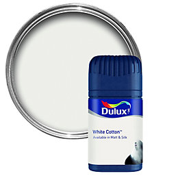 Dulux White Cotton Matt Emulsion Paint 50ml Tester