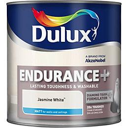 Dulux Endurance Jasmine White Matt Emulsion Paint 2.5L