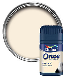 Dulux Pot Ivory Matt Emulsion Paint 50ml Tester
