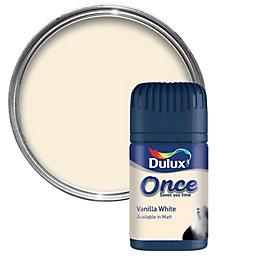 Dulux Vanilla White Matt Emulsion Paint 50ml Tester