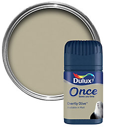 Dulux Overtly Olive Matt Emulsion Paint 50ml Tester