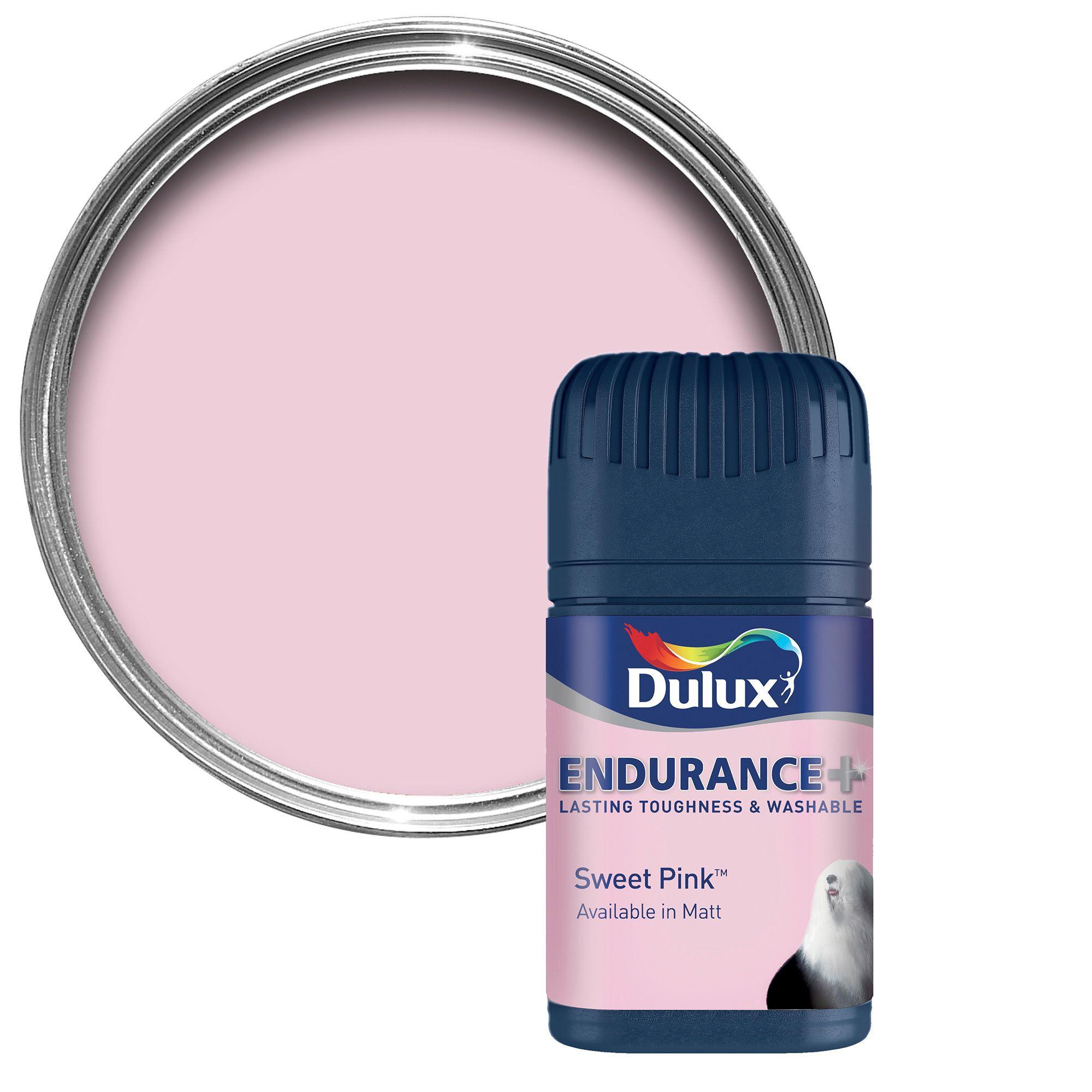 Dulux Endurance Sweet Pink Matt Emulsion Paint 50ml Tester Pot