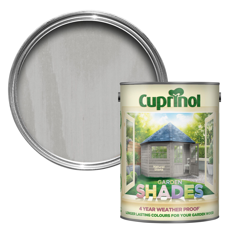 cuprinol garden shades natural stone matt wood paint 5l. Black Bedroom Furniture Sets. Home Design Ideas