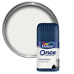 Dulux White Cotton Matt Emulsion Paint 50ml Tester