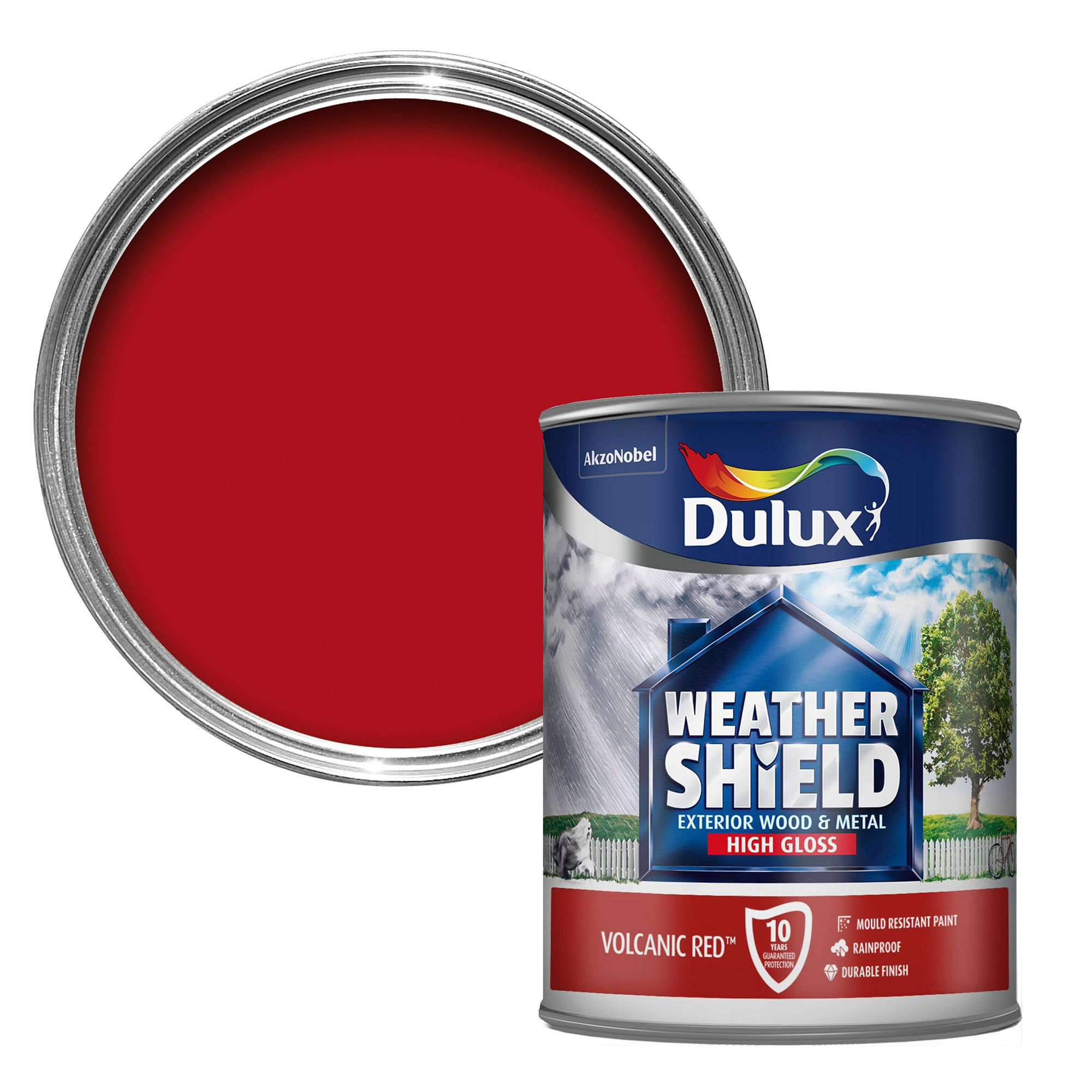 Dulux Weathershield Exterior Volcanic Red Gloss Wood
