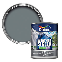 Dulux Weathershield External Gallant Grey Satin Paint 750ml