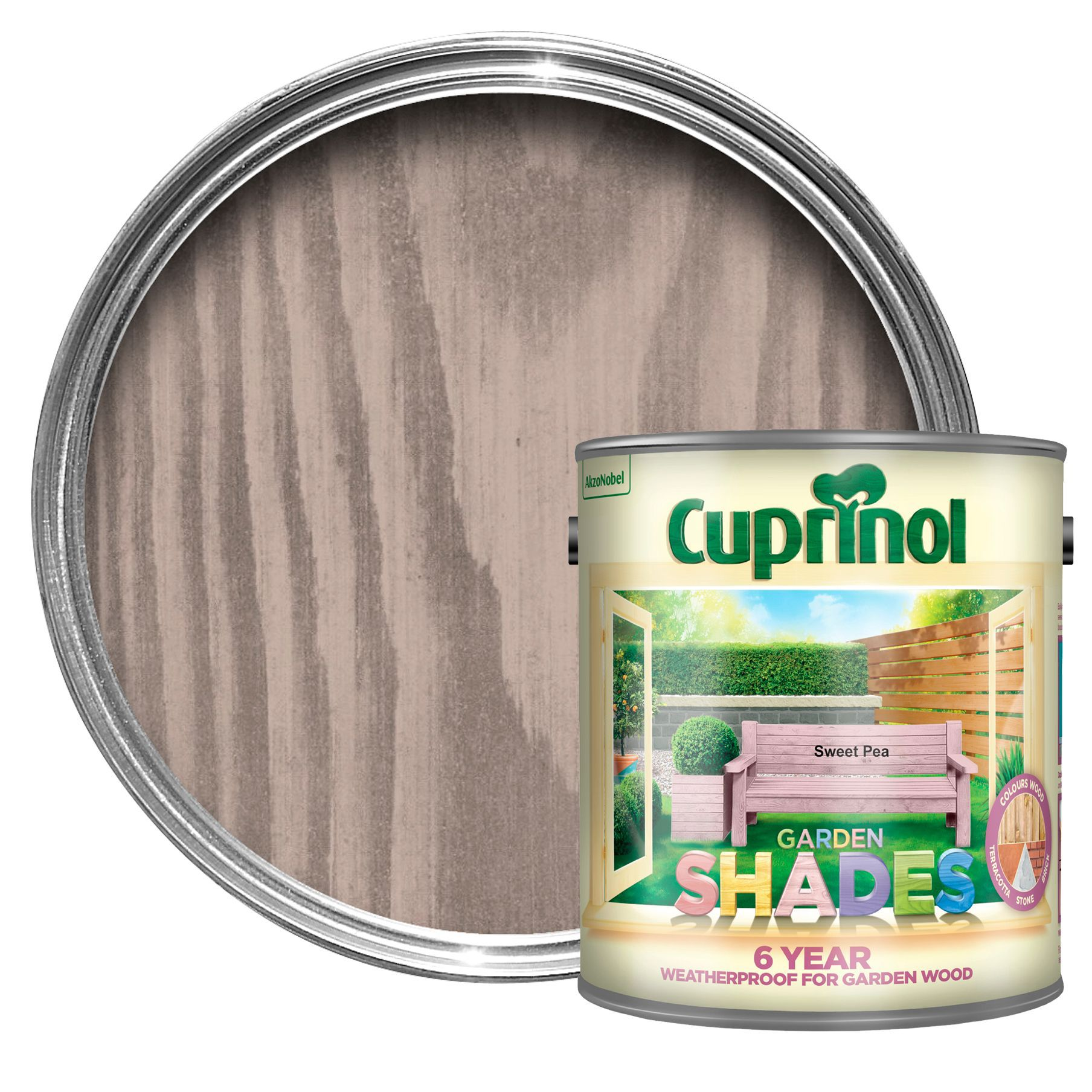 Cuprinol Garden Shades Sweet Pea Matt Wood Paint 2.5l