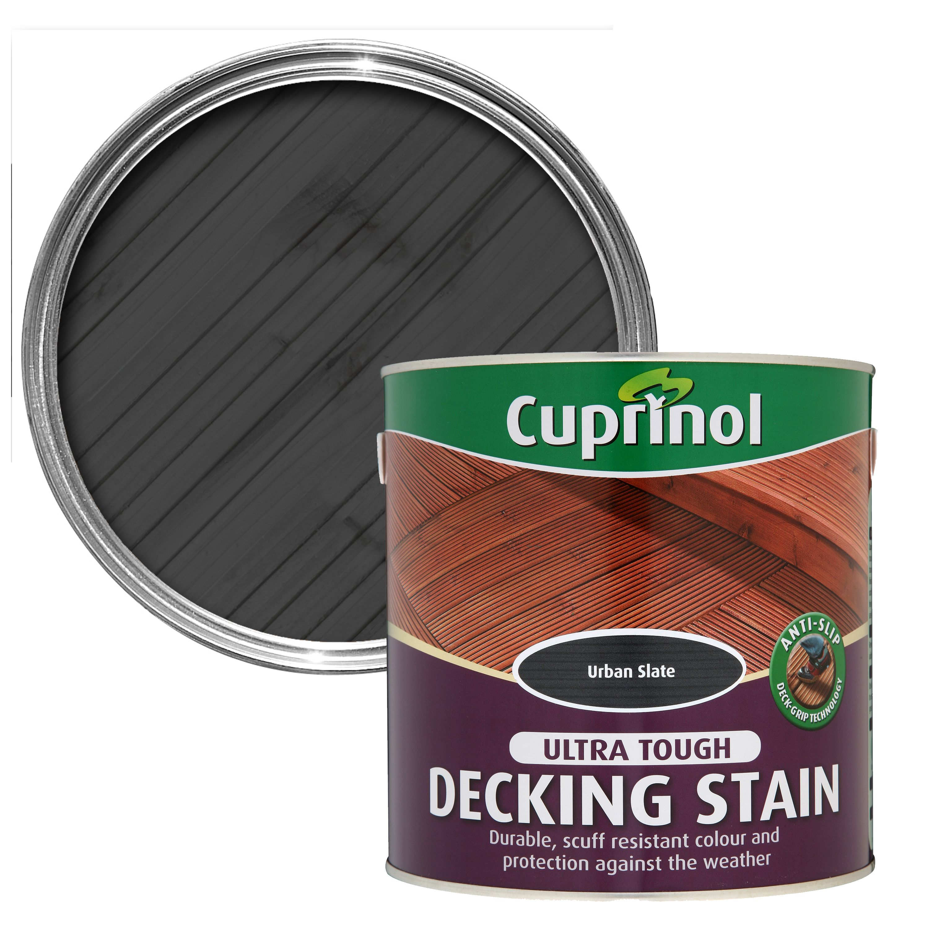 Cuprinol garden shades black ash wood paint 5l for B and q timber decking
