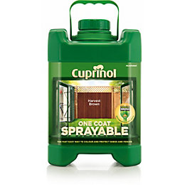 Cuprinol One Coat Sprayable Harvest Brown Shed &