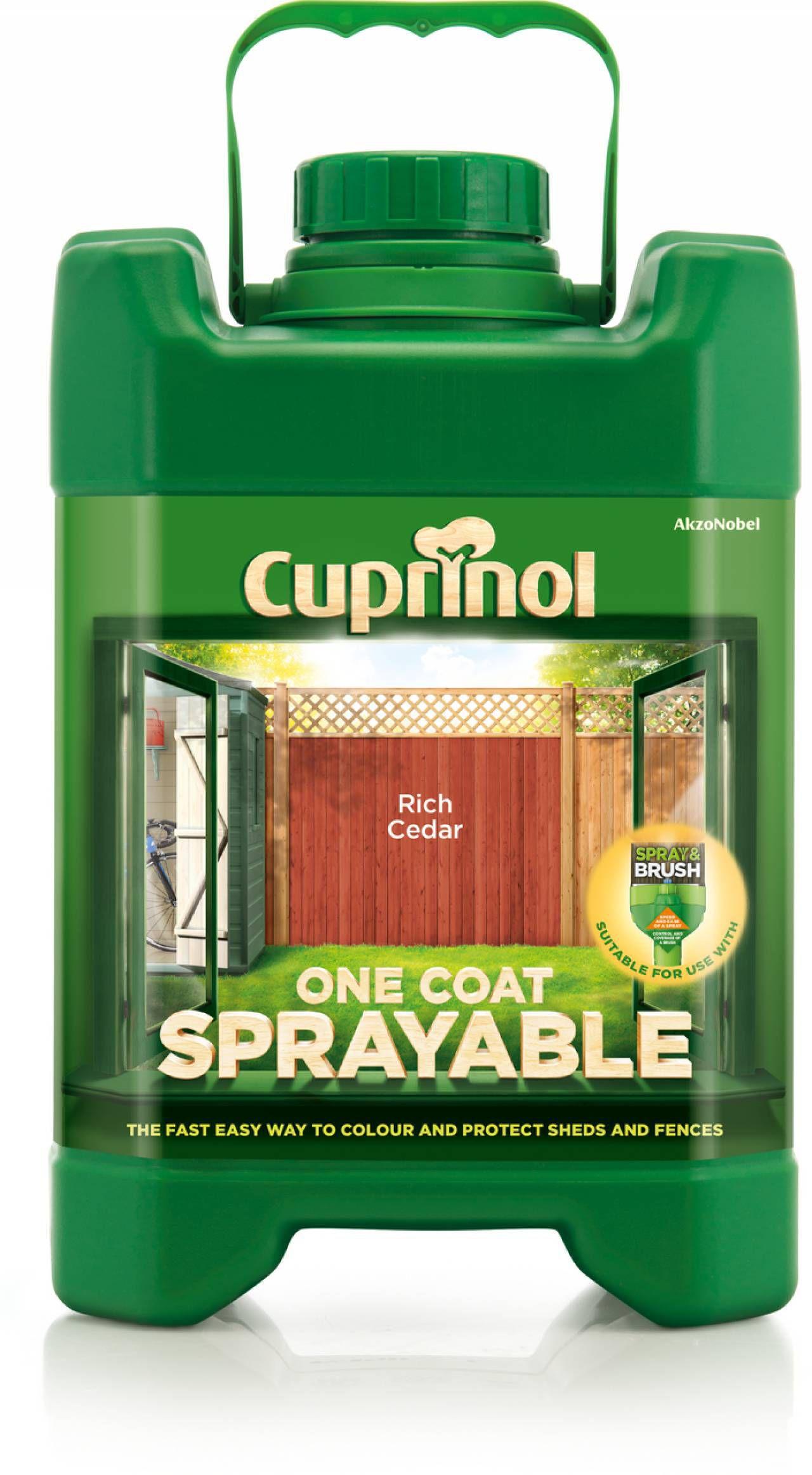 Cuprinol One Coat Sprayable Rich Cedar Shed & Fence Treatment 5l