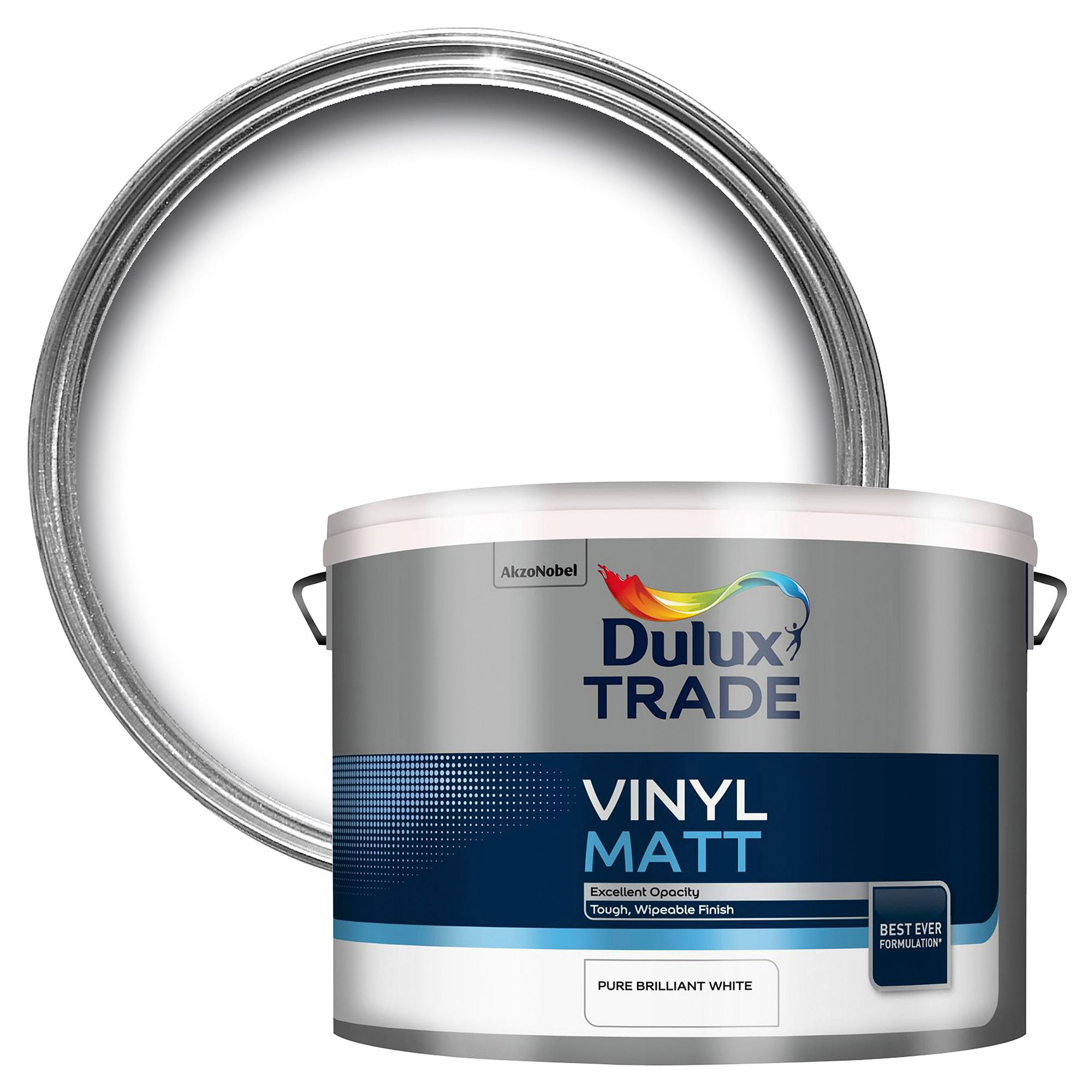 Dulux Trade Trade Pure Brilliant White Matt Emulsion Paint 10l