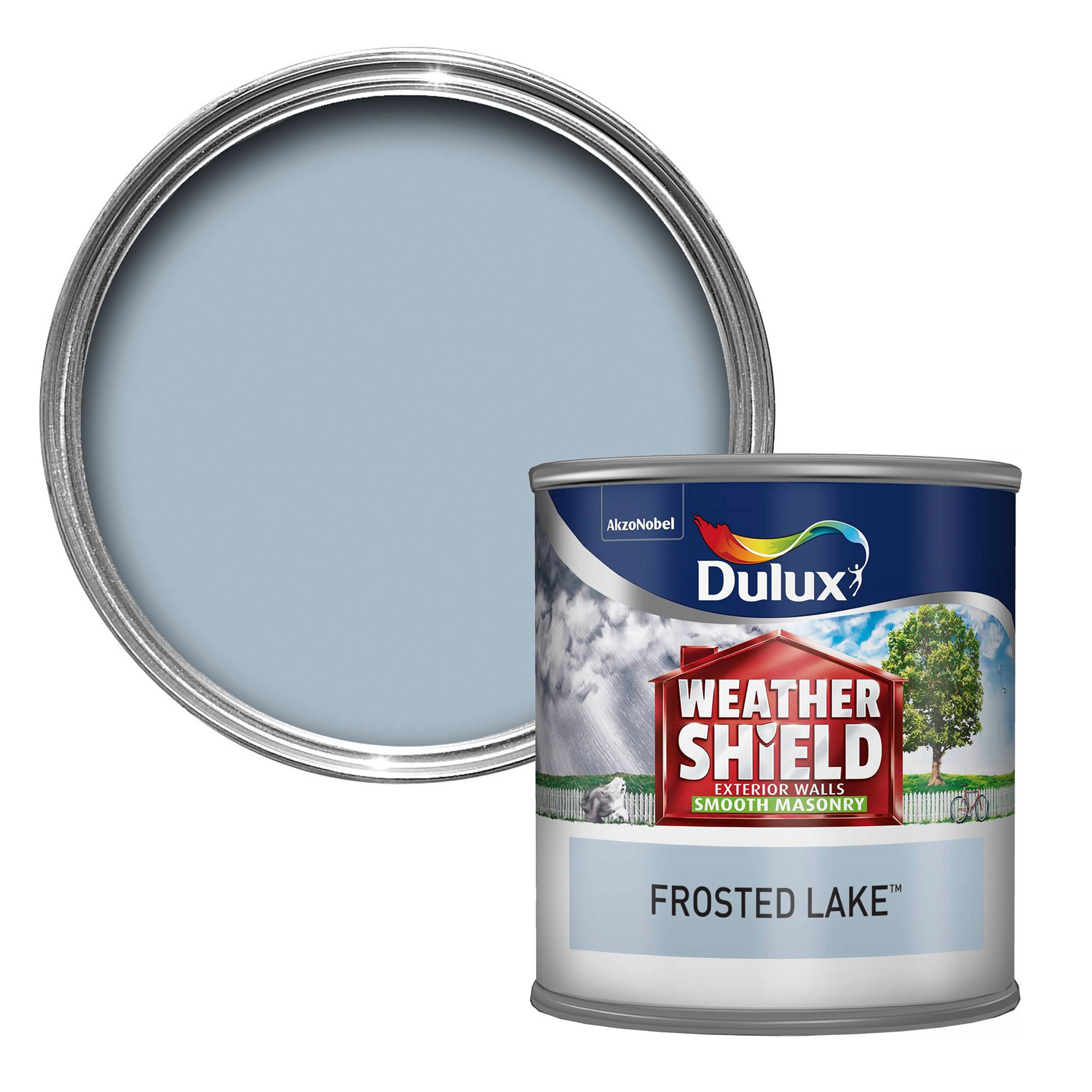 Dulux Weathershield Frosted Lake Blue Smooth Matt Masonry Paint 0.25L  Tester Pot | Departments | DIY at B&Q